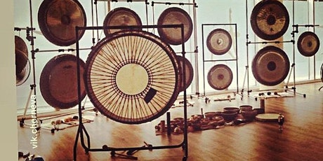 """Relaxing GONG BATH with 2 Gong Master Teachers -12Gongs+45""""Shamanic Drum tickets"""
