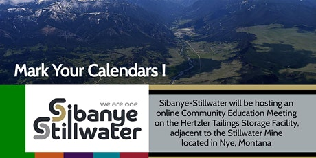 Stillwater Mine Tailings Storage Facility, Community Education Meeting Tickets