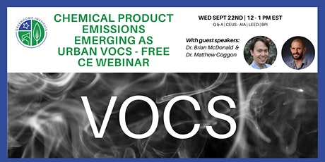 Chemical Product Emissions Emerging as Urban VOCS - Free CE Webinar tickets