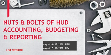 Nuts & Bolts of HUD Accounting, Budgeting & Reporting - Live Webinar tickets