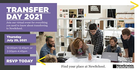 NewSchool of Architecture & Design Virtual Transfer Day tickets