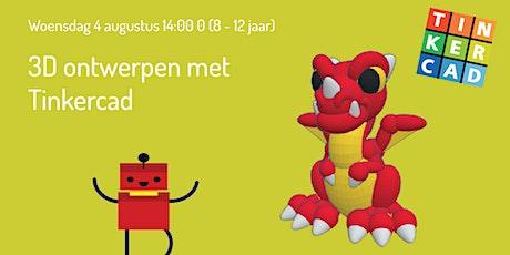 Workshop 3D ontwerpen met Tinkercad (8 - 12 jaar) tickets