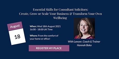 Essential Skills For Self Employed Consultant Solicitors tickets