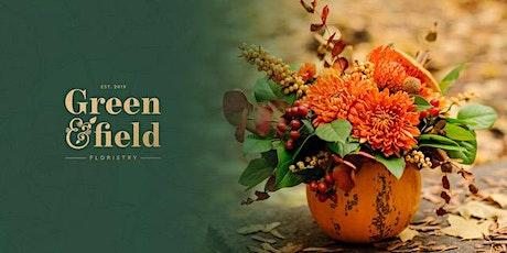 Halloween Floral Pumpkin Arrangement Workshop @ Honey Pottery, Horsforth tickets
