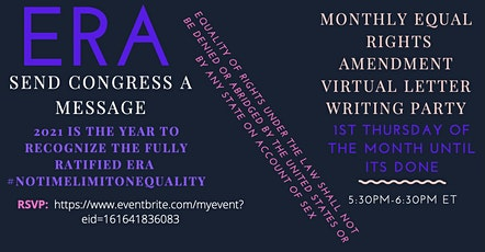 Equal Rights Amendment (ERA) Letter Writing Party - Monthly! tickets