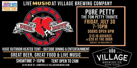 Pure Petty - The Tom Petty Tribute @ Village Brewing Company! tickets