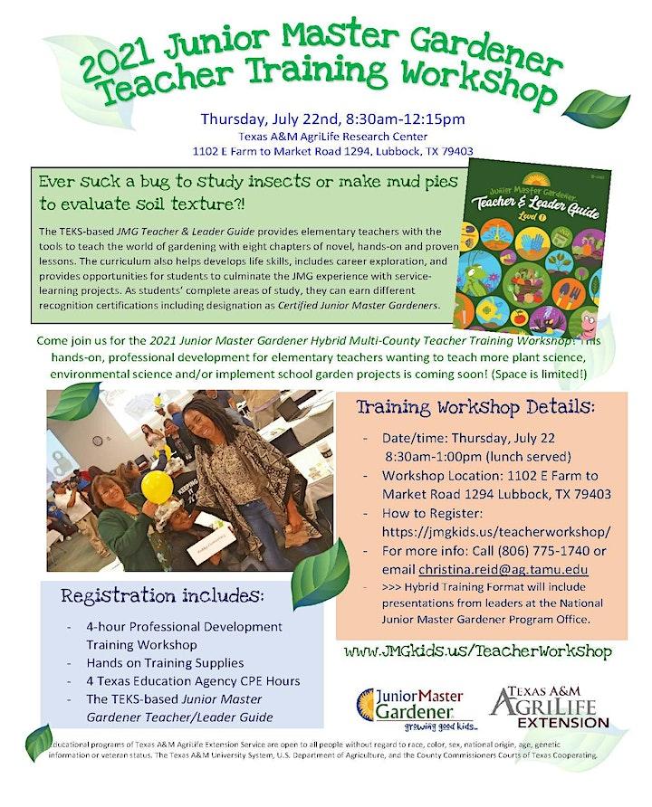 2021 Junior Master  Gardener Teacher Training Workshop image