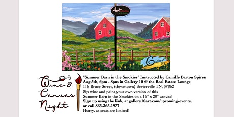 Wine and Canvas Night with Camille Barton Spires - Summer Barn tickets