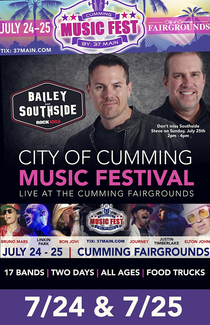 7/24: The City of Cumming  Music Festival LIVE at the Cumming Fairgrounds image
