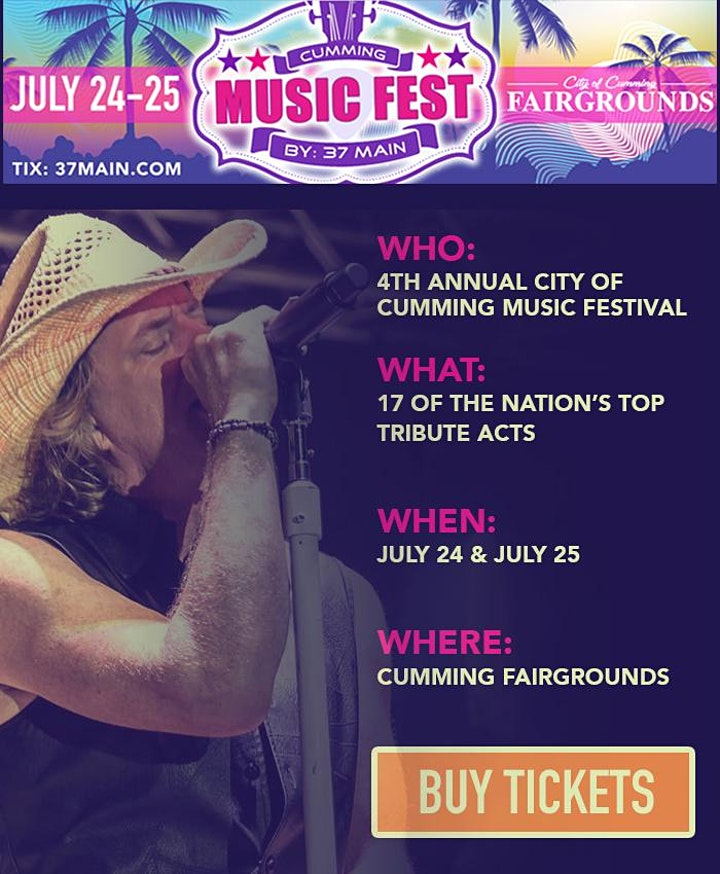 7/25: The City of Cumming  Music Festival LIVE at the Cumming Fairgrounds image