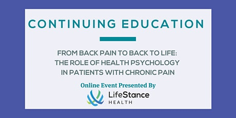 From Back Pain to Back to Life: Health Psychology & Chronic Pain tickets