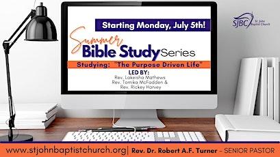 SJBC Bible Study - The Purpose Driven Life Series tickets