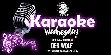 Karaoke Wednesday at Derwolf tickets