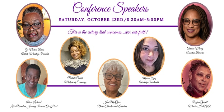 2021 Overcoming Faith  Virtual Women's Conference image