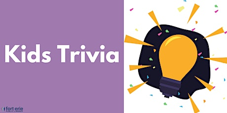 Kids Trivia - Geography tickets