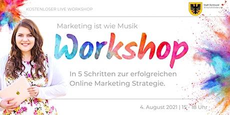 Marketing ist wie Musik – In 5 Schritten zur Online  Marketing Strategie Tickets