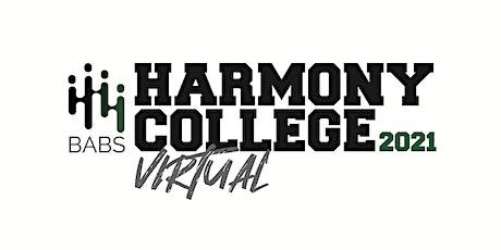 Harmony College Online 2021 tickets