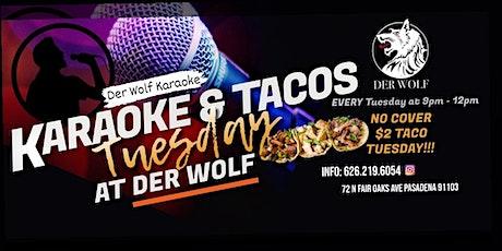 Karaoke & Taco Tuesday at Derwolf tickets