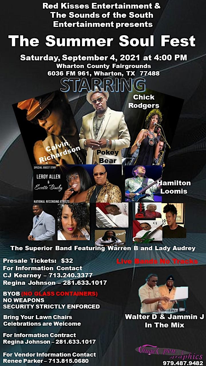 The Summer Soul Fest at the Wharton County Fairgrounds Labor Day Weekend image