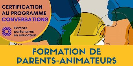 Formation des parents animateurs tickets