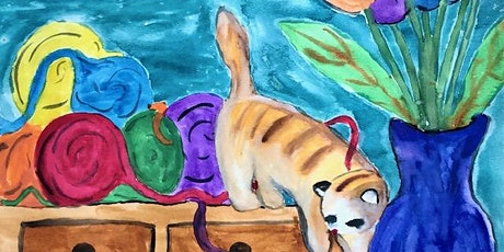 Virtual Painting  Ginger Cat tickets