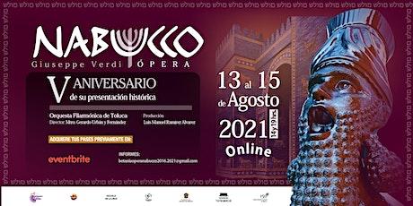 Nabucco Ópera Toluca billets