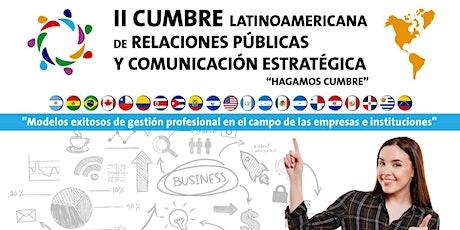 II Cumbre Latinoamericana de Relaciones Públicas y Comunicación Estratégica entradas