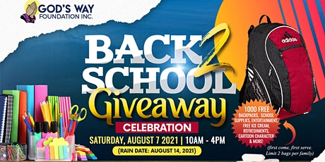 God's Way Foundation's Back-To-School Giveaway Celebration tickets