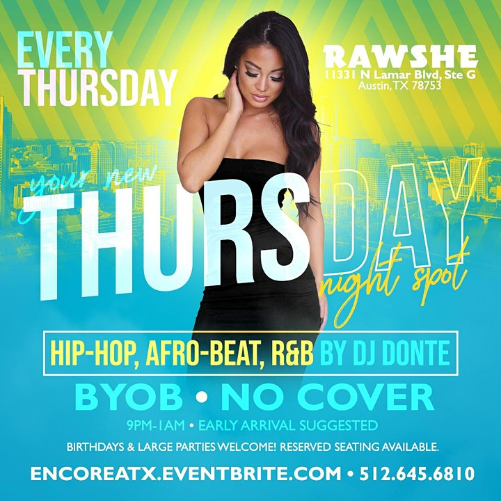 Rawshe Thursdays: Hip-Hop, Afro-Beat, R&B image