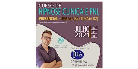 CURSO DE FORMAÇÃO EM HIPNOSE CLÍNICA E PNL PRESENCIAL ( ITABUNA -BA) bilhetes