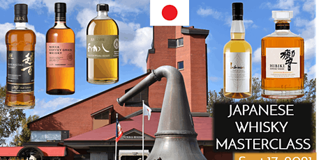 Japanese Whiskey tasting online at your home! tickets