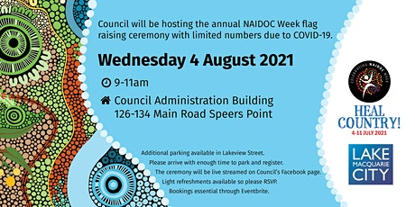 Lake Macquarie City Council annual NAIDOC Week flag raising ceremony tickets