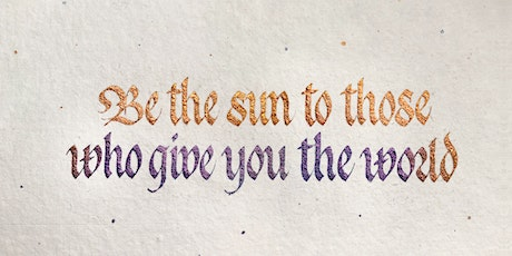 Introduction to Gothicized Italic Calligraphy Online Workshop tickets