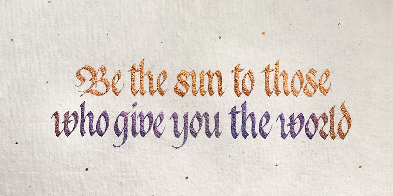 Introduction to Gothicized Italic Calligraphy Workshop