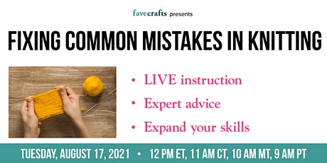 Fixing Common Mistakes in Knitting tickets