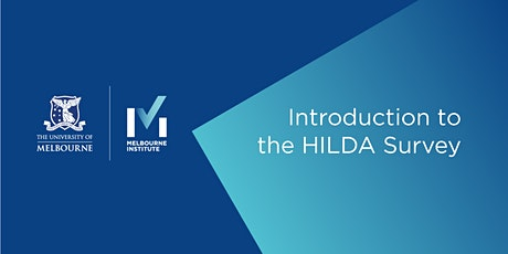 Introduction to the HILDA Survey (Virtual) tickets