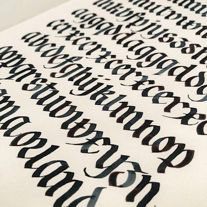 Introduction to Gothicized Italic Calligraphy Online Workshop image