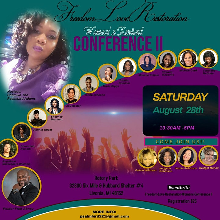 FREEDOM, LOVE, AND RESTORATION WOMENS CONFERENCE II image
