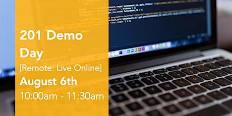 201 Virtual Demo Day Presentations tickets