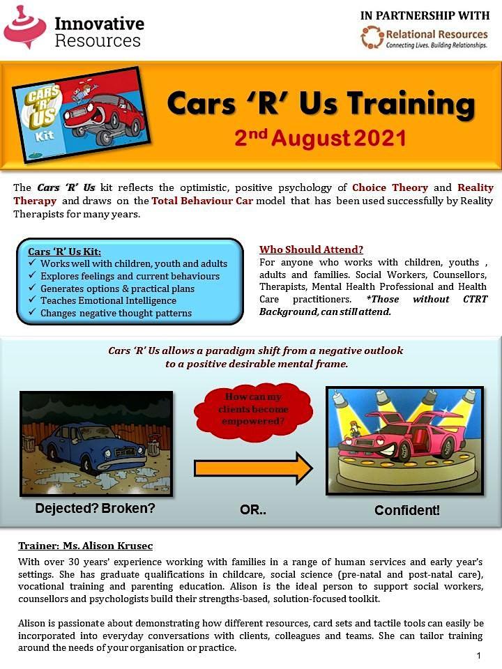 Cars 'R' Us Online Workshop image
