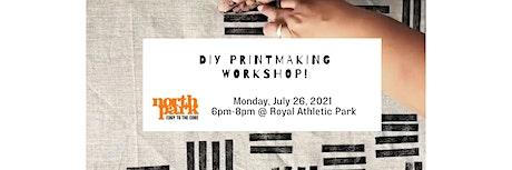 DIY Printmaking workshop tickets