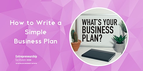 How to Write a Simple Business Plan tickets