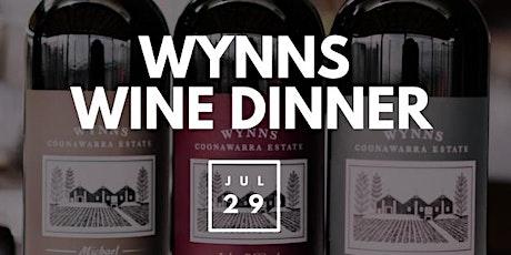 Wynns Wine Dinner tickets