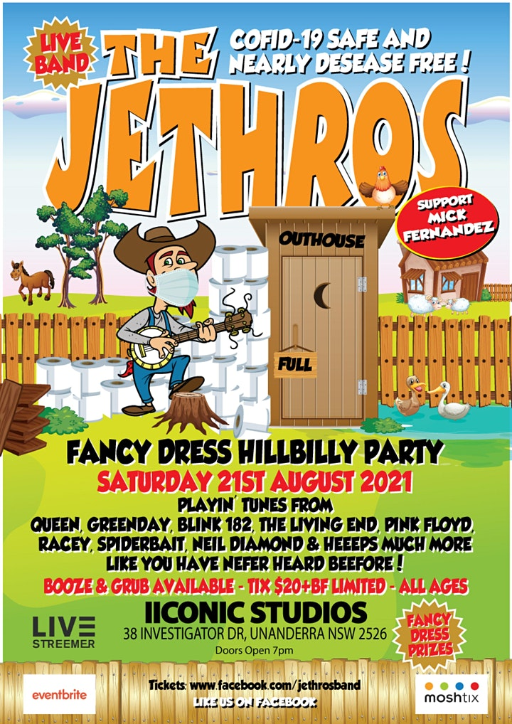 CANCELLED!  THE JETHROS - Fancy Dress Hillbilly Party image