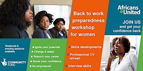 Back to work preparedness workshops for women tickets