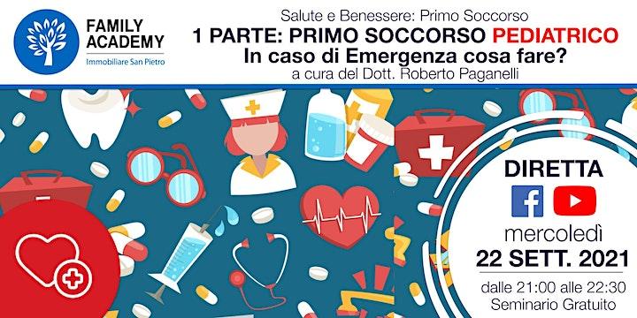 Immagine PRIMA PARTE: PRIMO  SOCCORSO PEDIATRICO - IN CASO DI EMERGENZA COSA FARE?