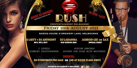 RUSH 80's, 90's, 00's and RnB Dance Party tickets