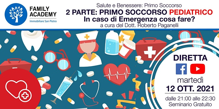 Immagine SECONDA PARTE PRIMO SOCCORSO PEDIATRICO - IN CASO DI EMERGENZA COSA FARE?