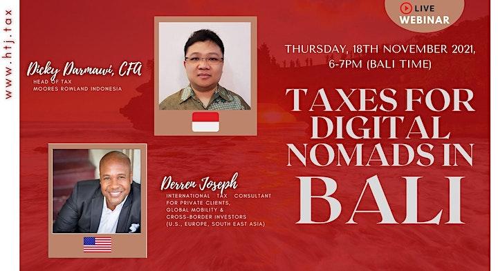 (WEBINAR) Taxes for Digital Nomads in Bali image