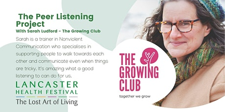 The Peer Listening Project - Lancaster Health Festival tickets